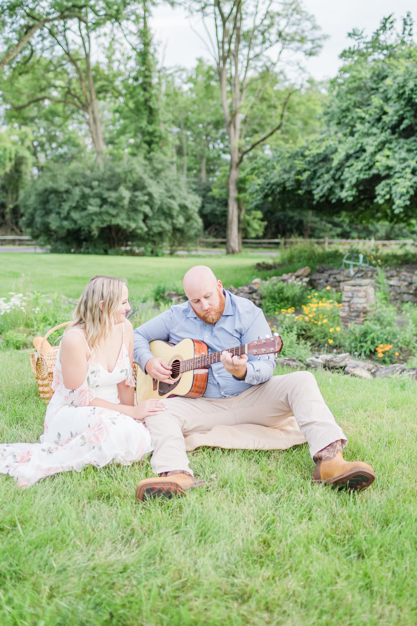 Engagement photos at Curtin Village in Howard PA