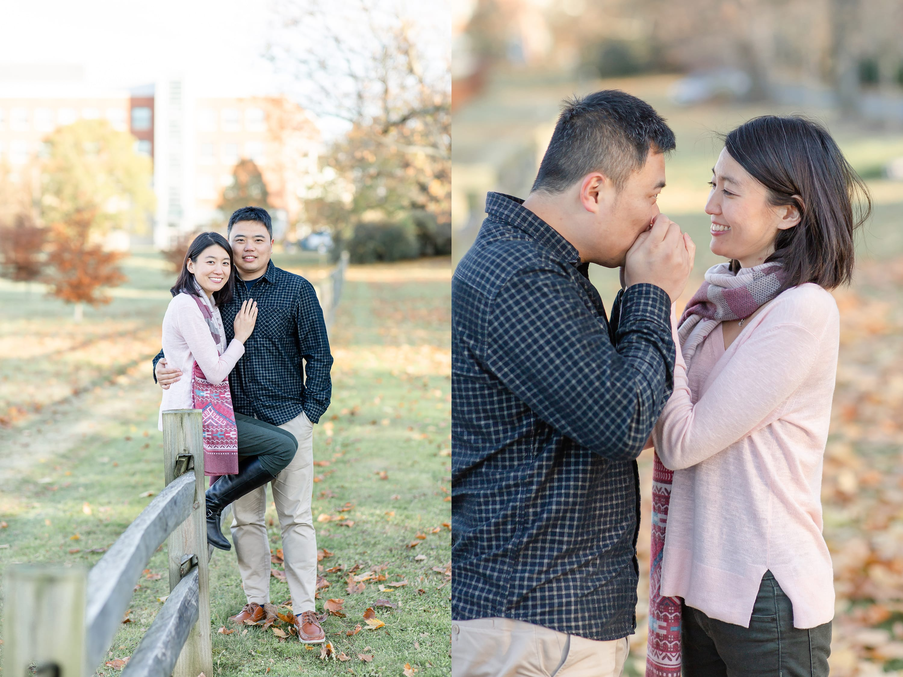 Penn State Arboretum Engagement photo during fall