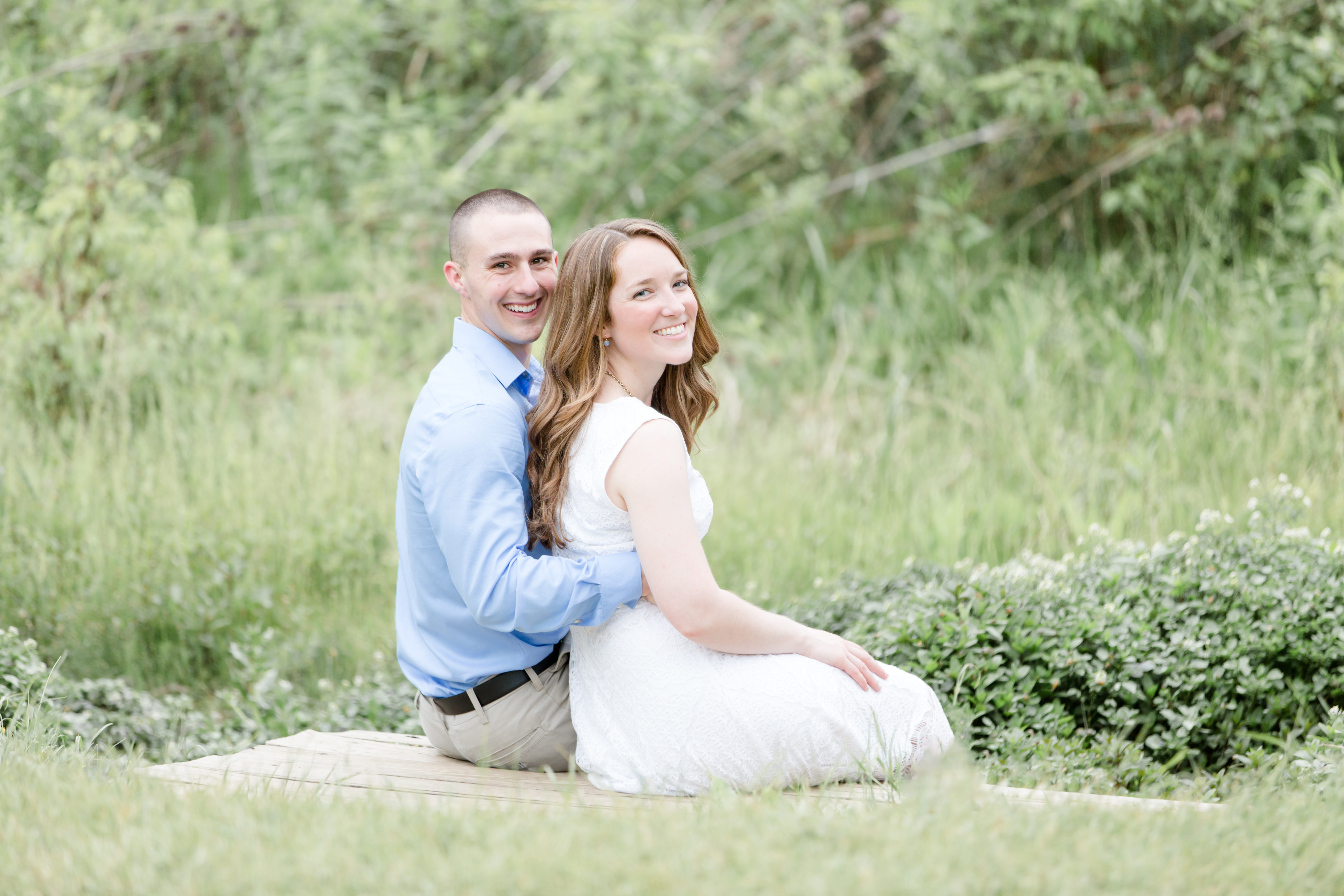 Engagement photo at Millbrook Marsh State College