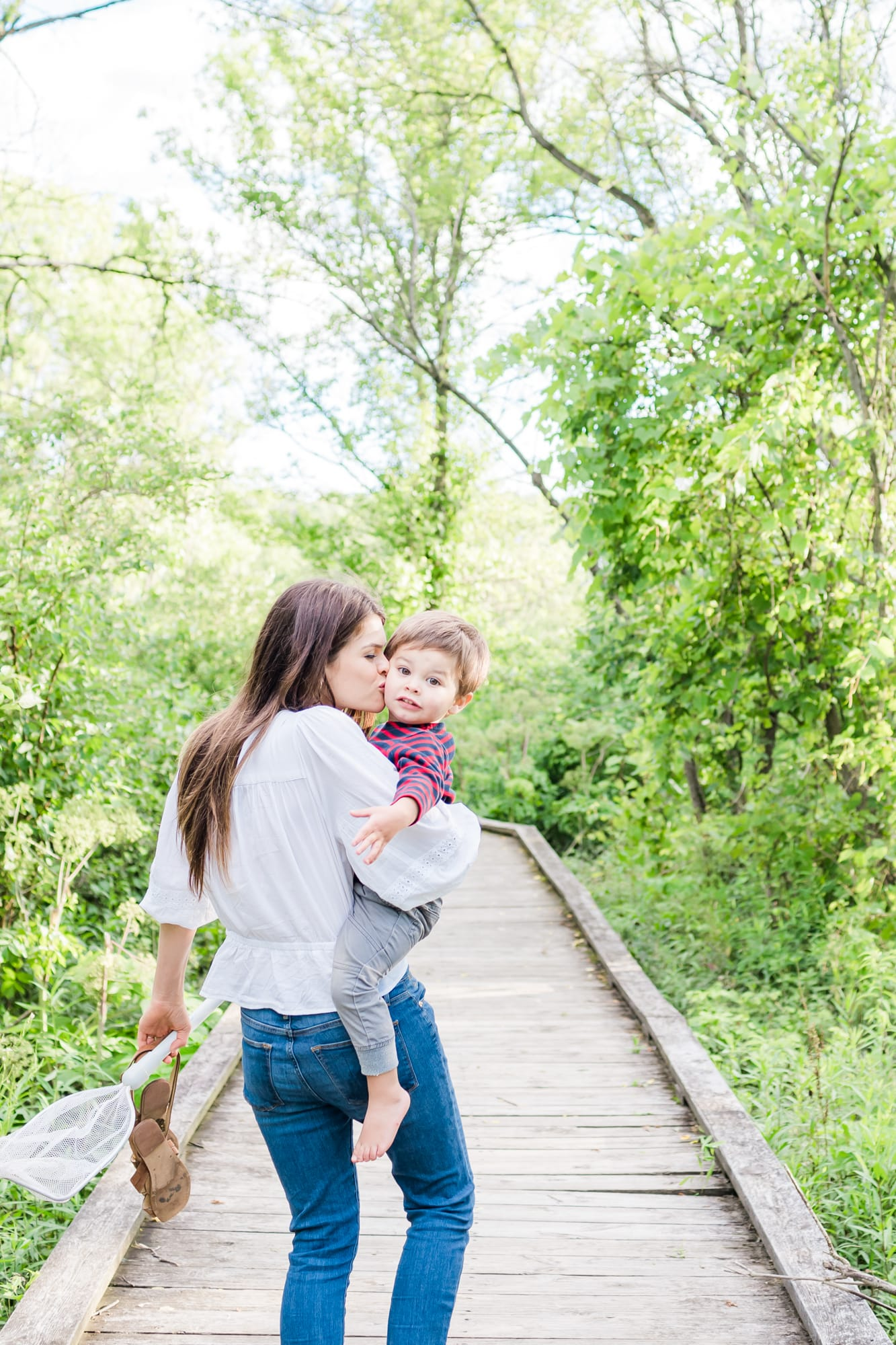 Family photos at Millbrook Marsh in State College