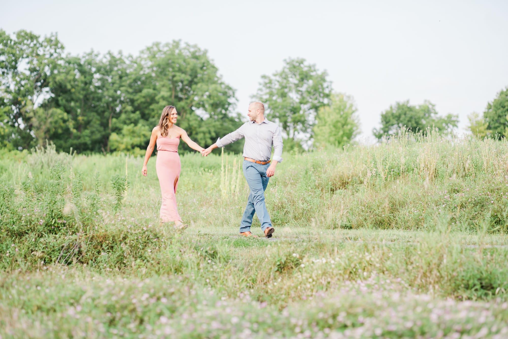 Engagement photos at Oak Hall Regional Park in Boalsburg
