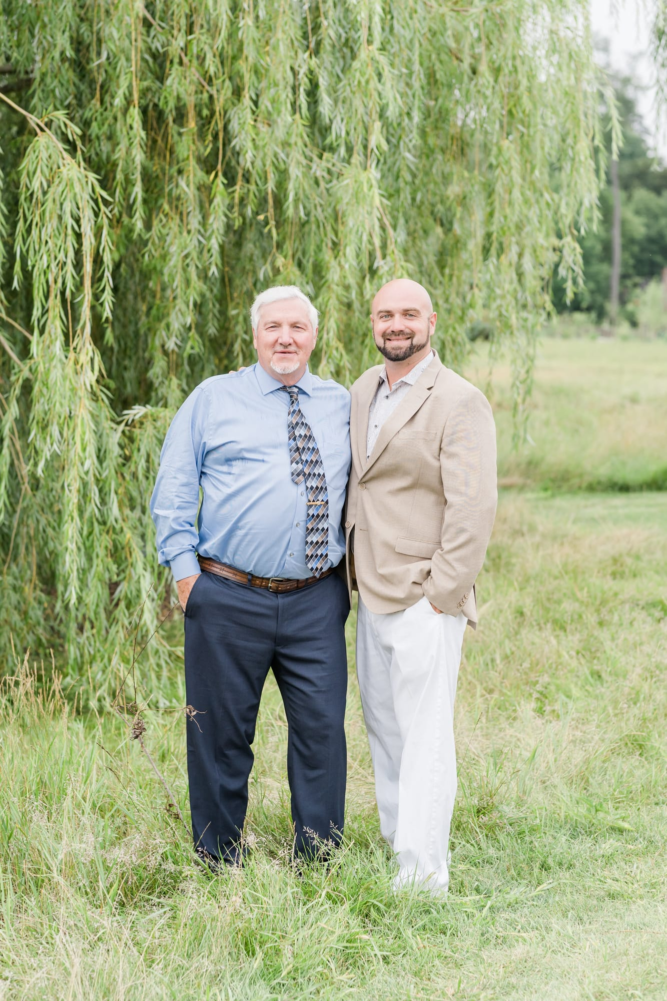 Father and son portrait at Penn State arboretum