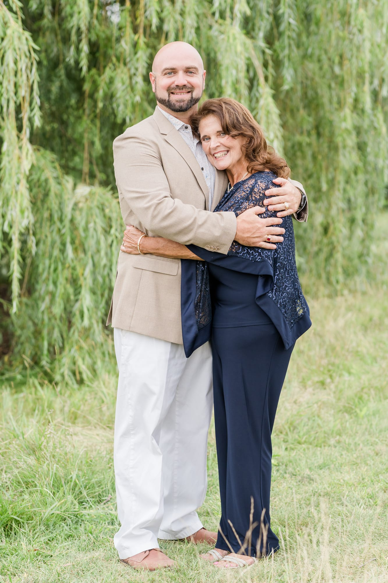Mother and son portrait at Penn State arboretum