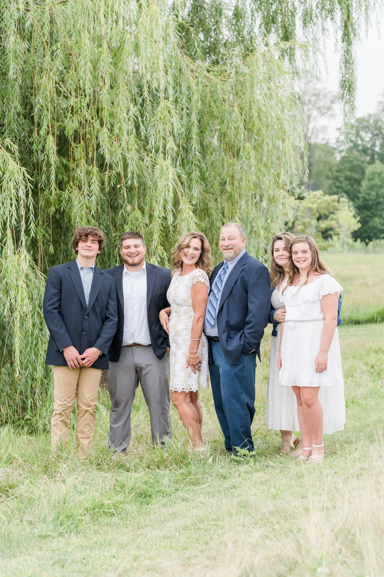 Family portrait at Penn State arboretum