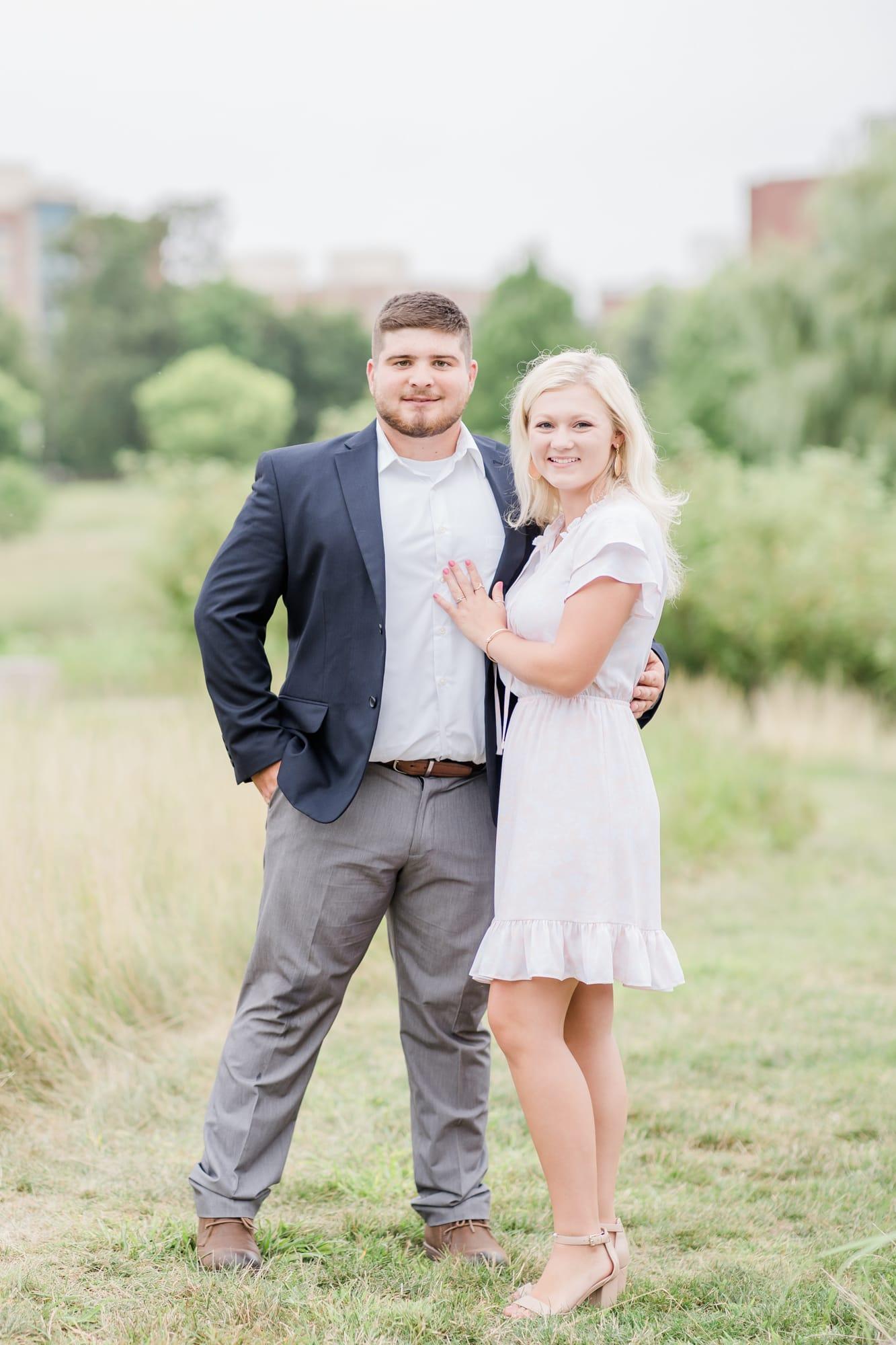 Couples portrait at Penn State arboretum