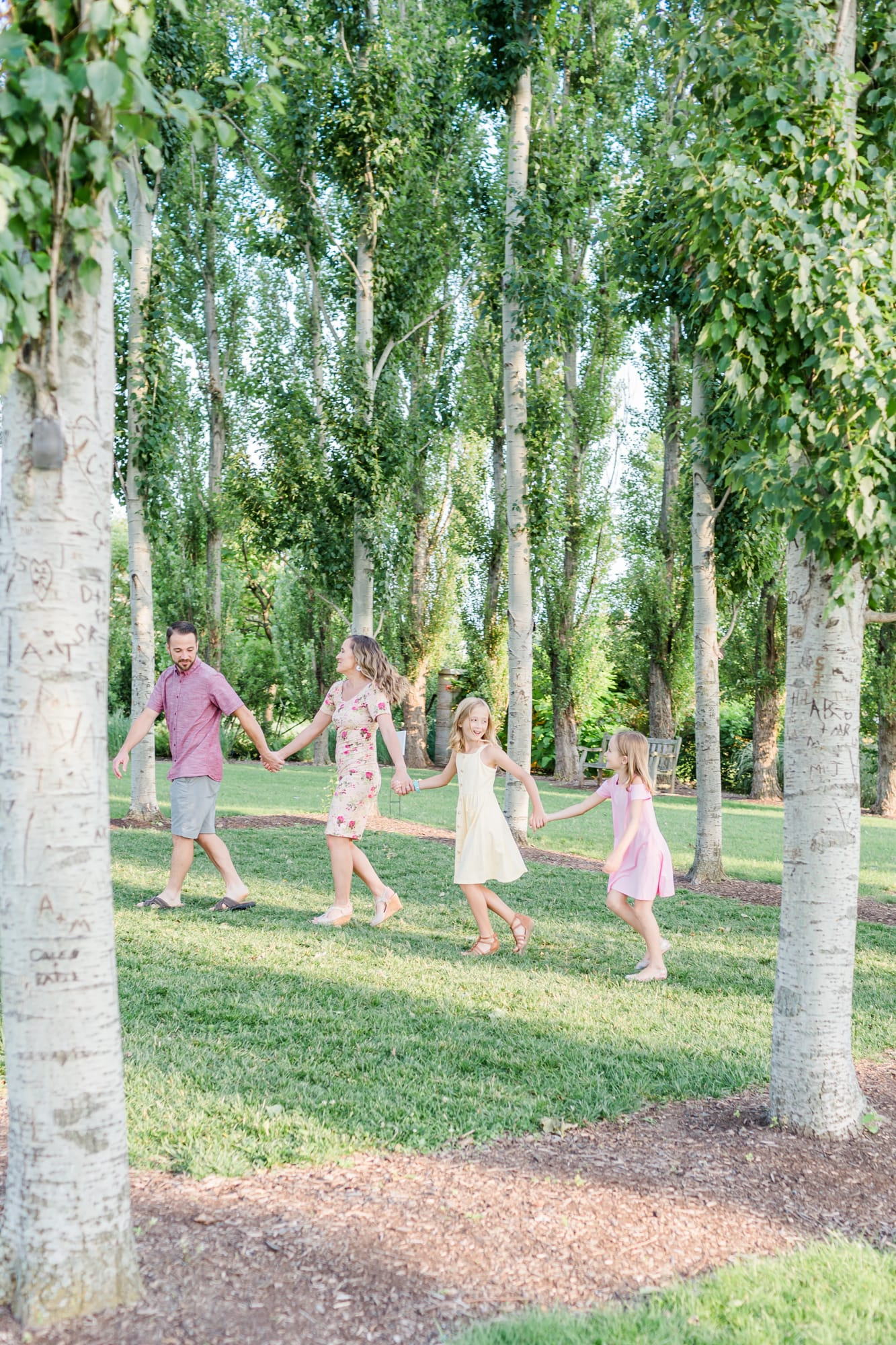 Family portraits at Penn State arboretum