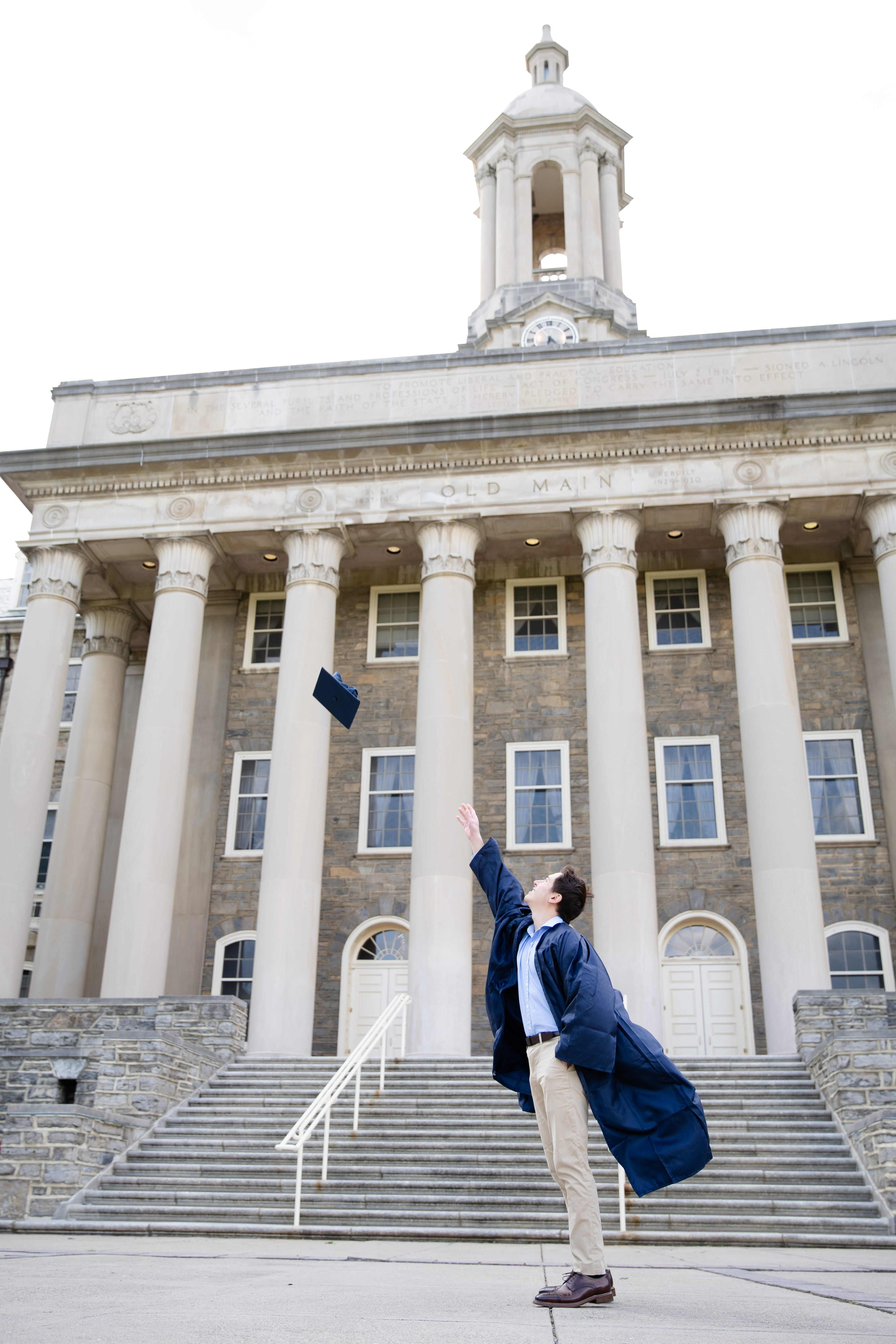 PSU Class of 2020 graduate at Old Main Penn State campus