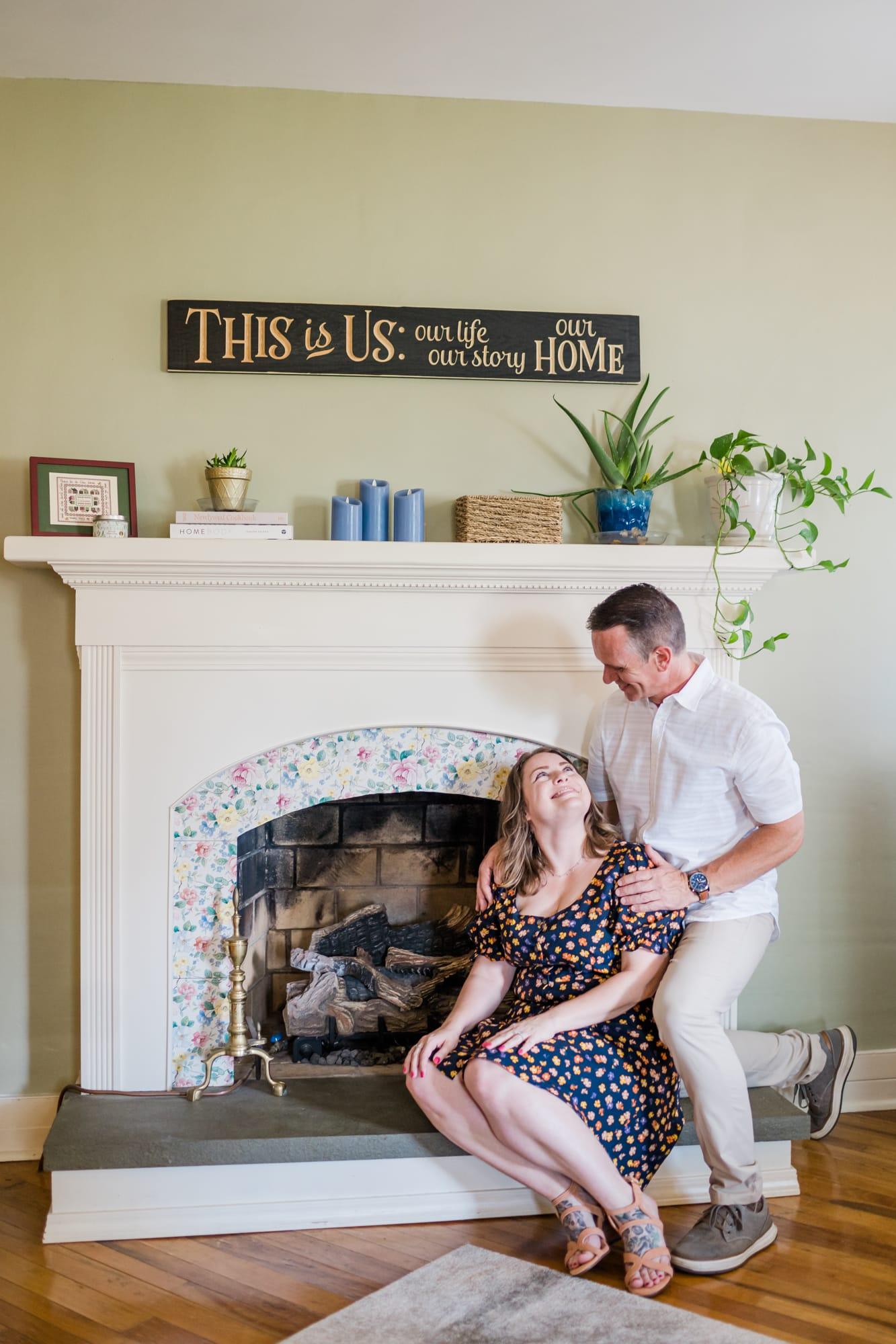 In-home lifestyle engagement photos