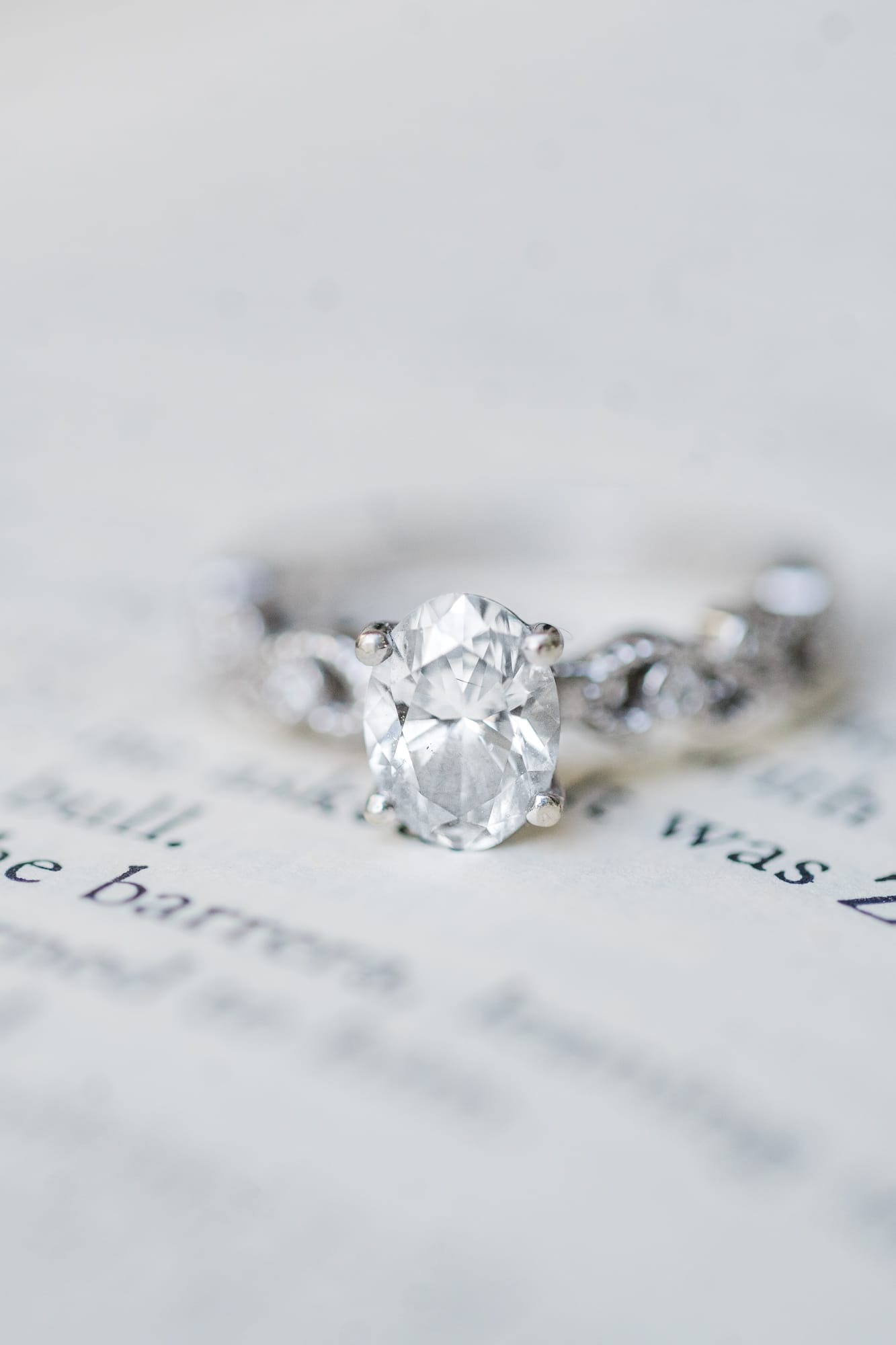 Ring shot on top of books