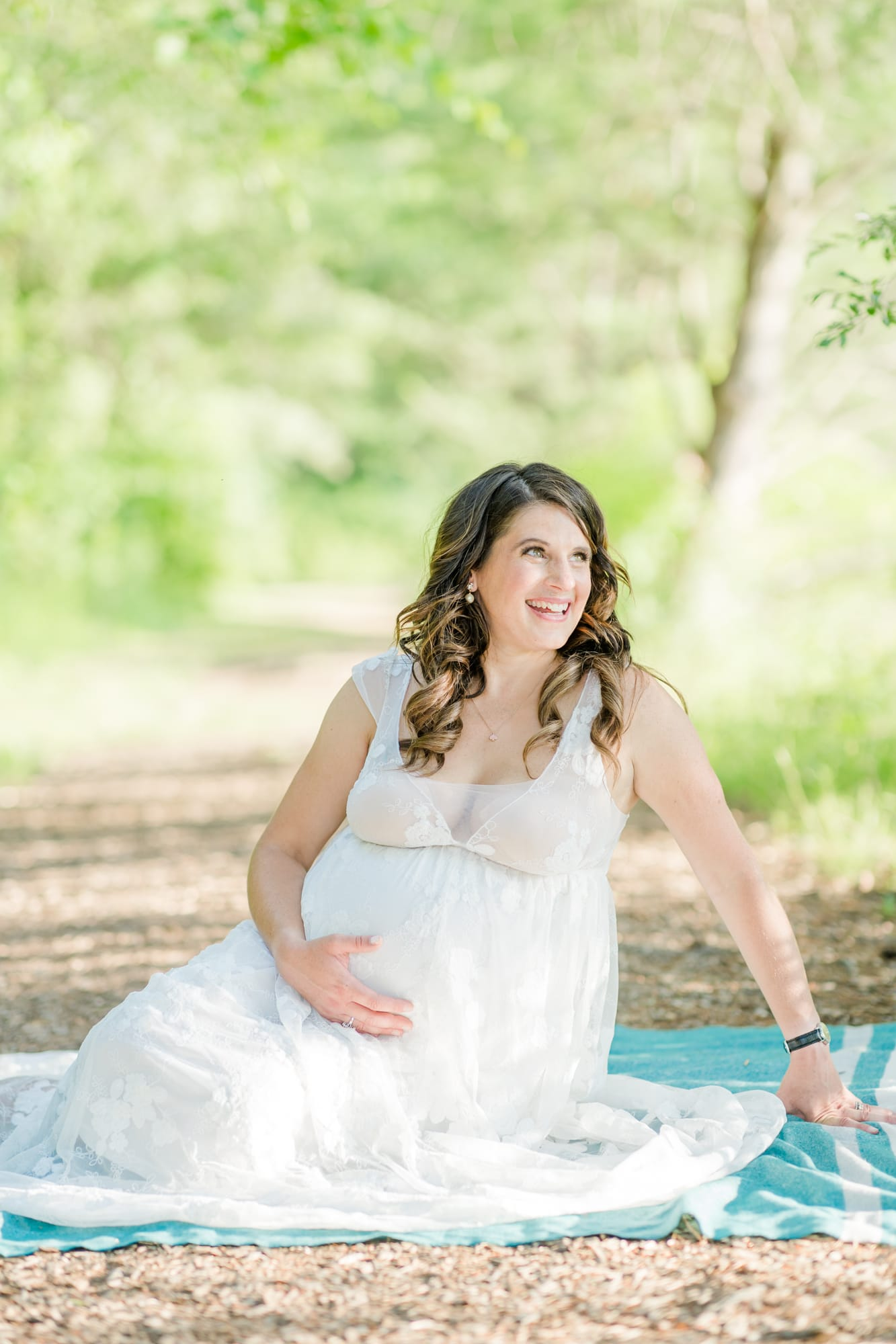 State College maternity photos at Tussey Mountain