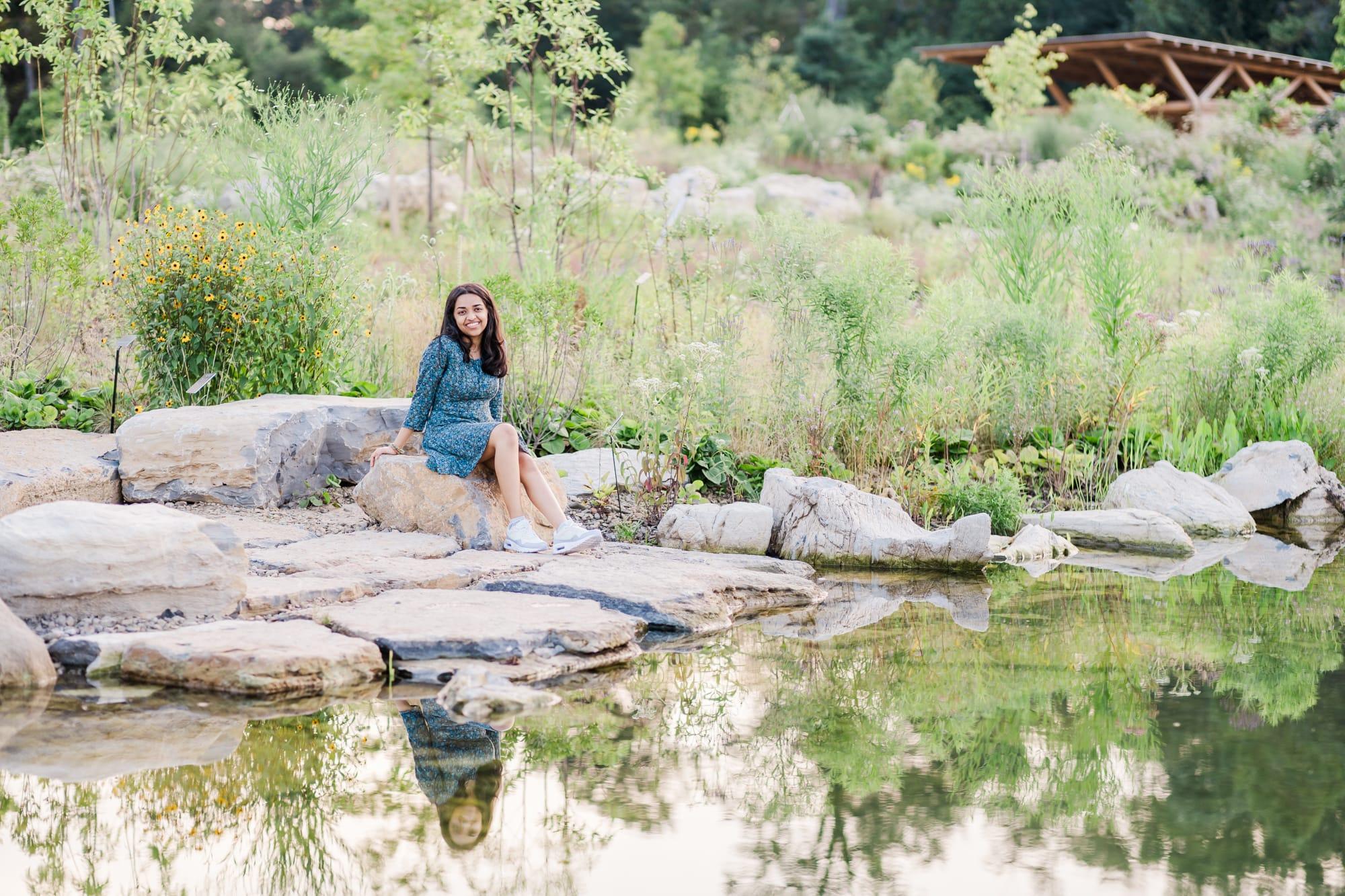 State High senior photos at Penn State arboretum
