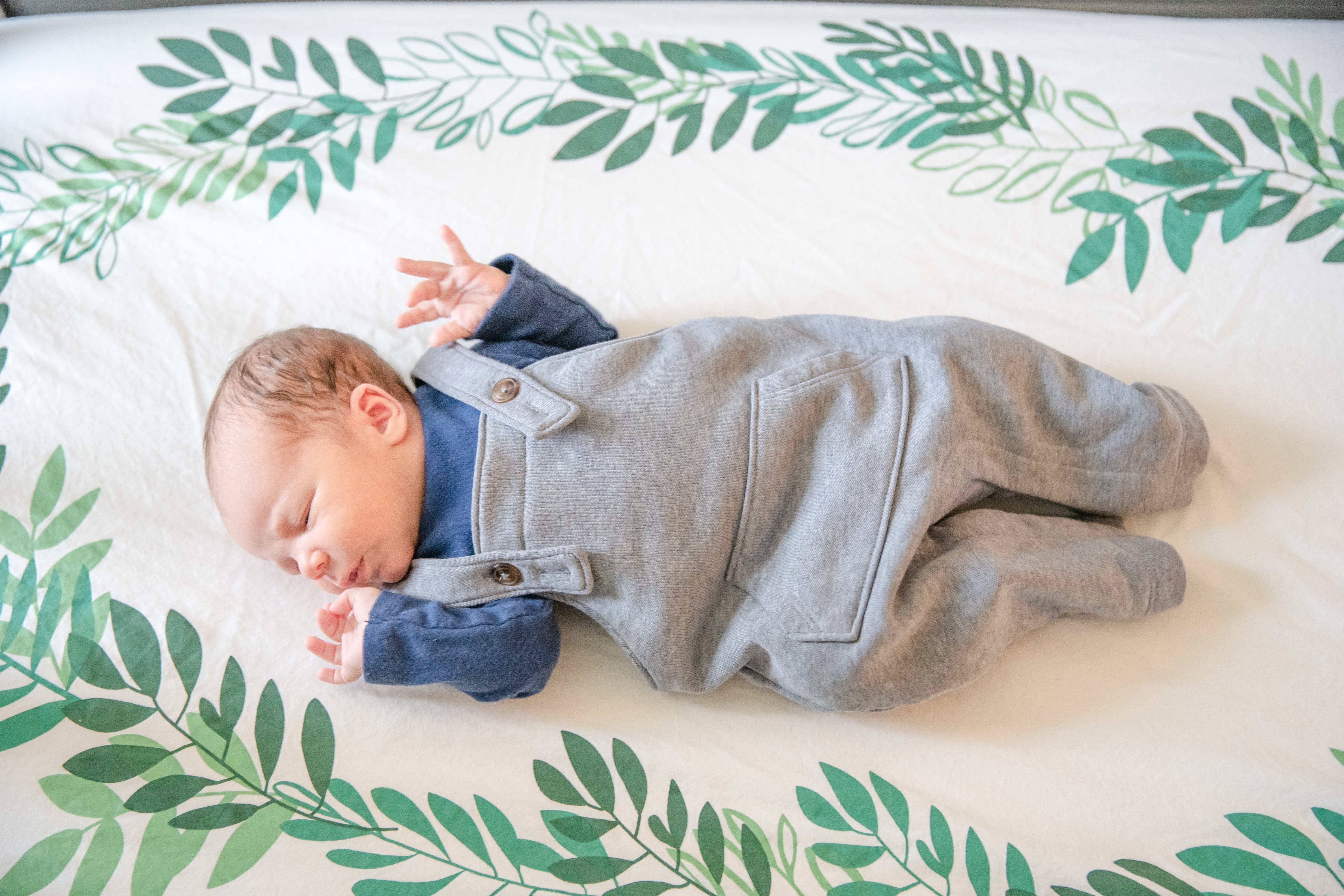 One week old baby Jameson at his lifestyle newborn session in State College