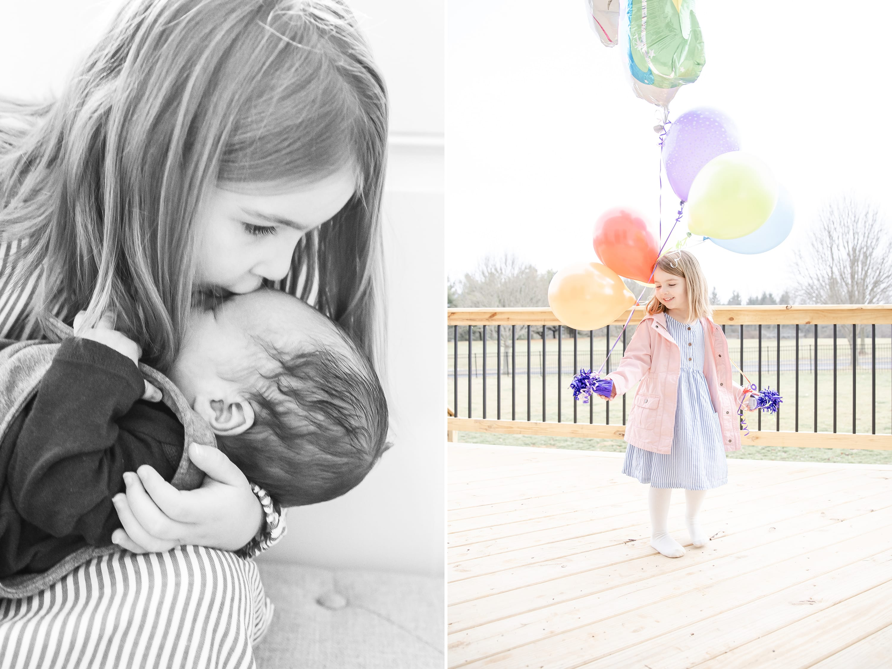Anna celebrating fifth birthday lifestyle newborn session in State College