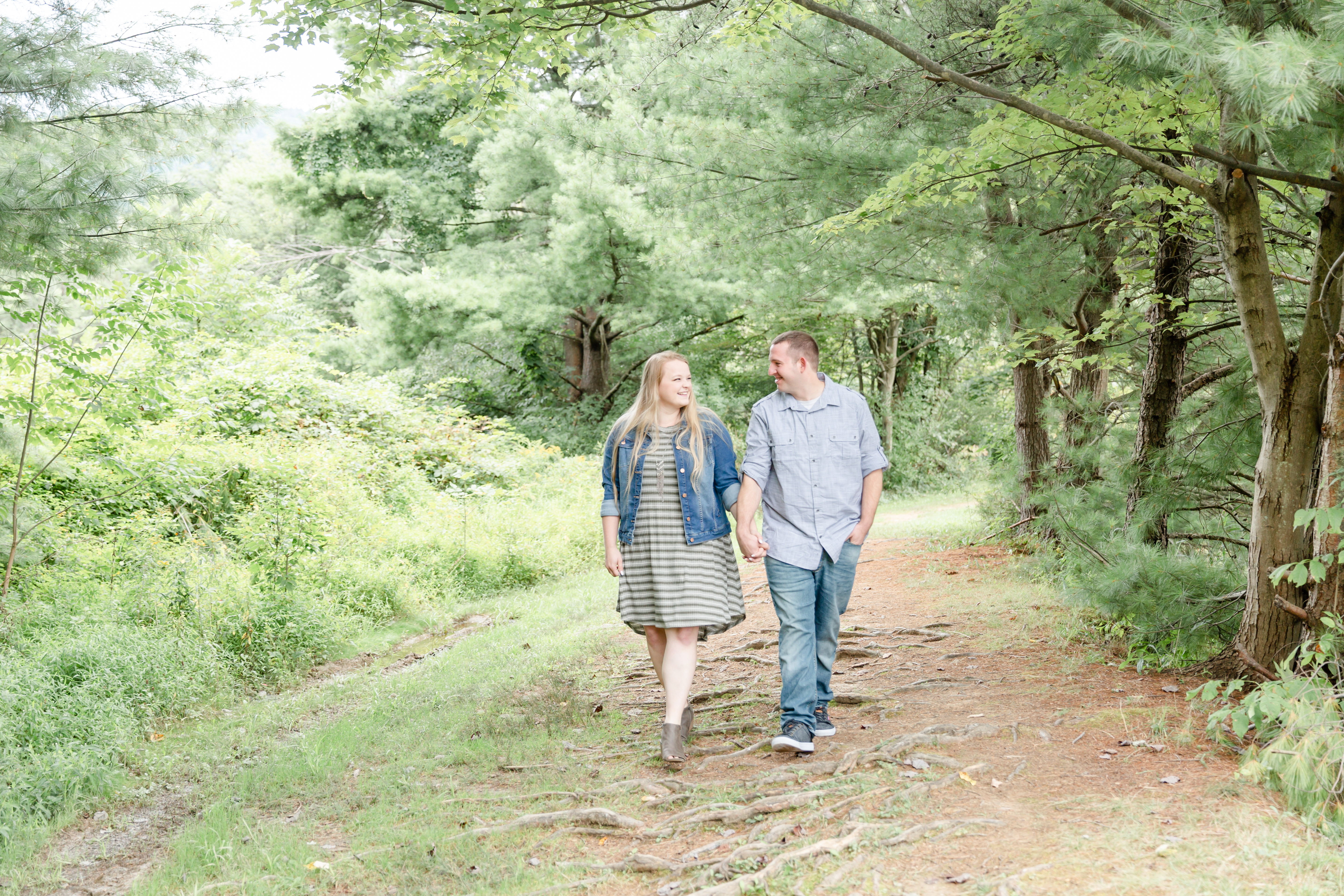Couple strolling on Tussey Mountain