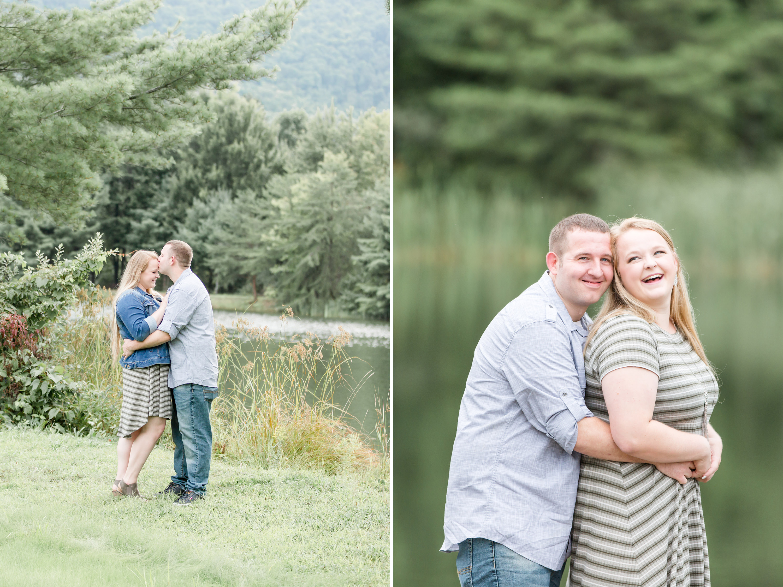 Couple enjoying lakeview of Tussey Mountain