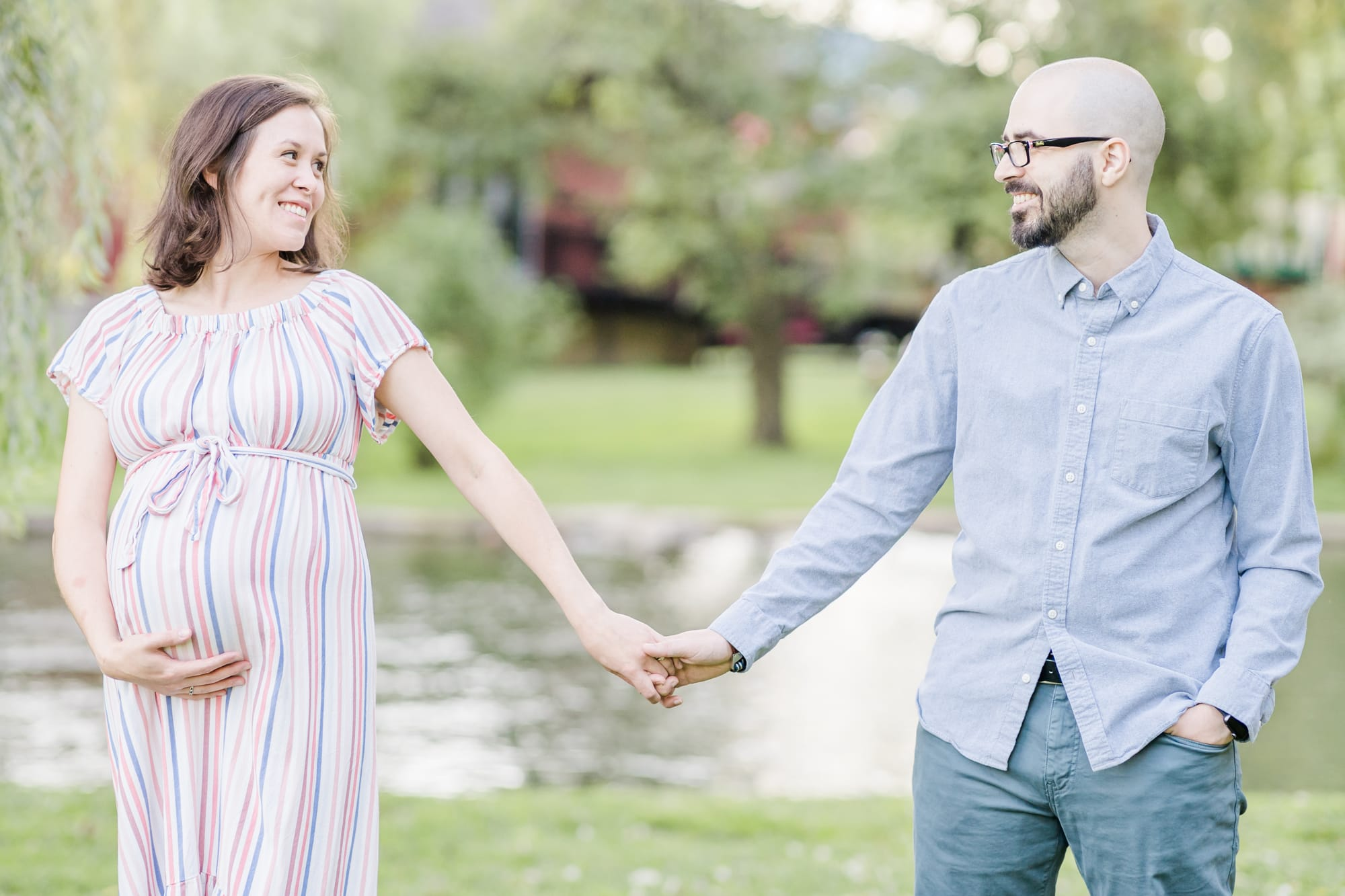 Maternity photos at Talleyrand Park in Bellefonte