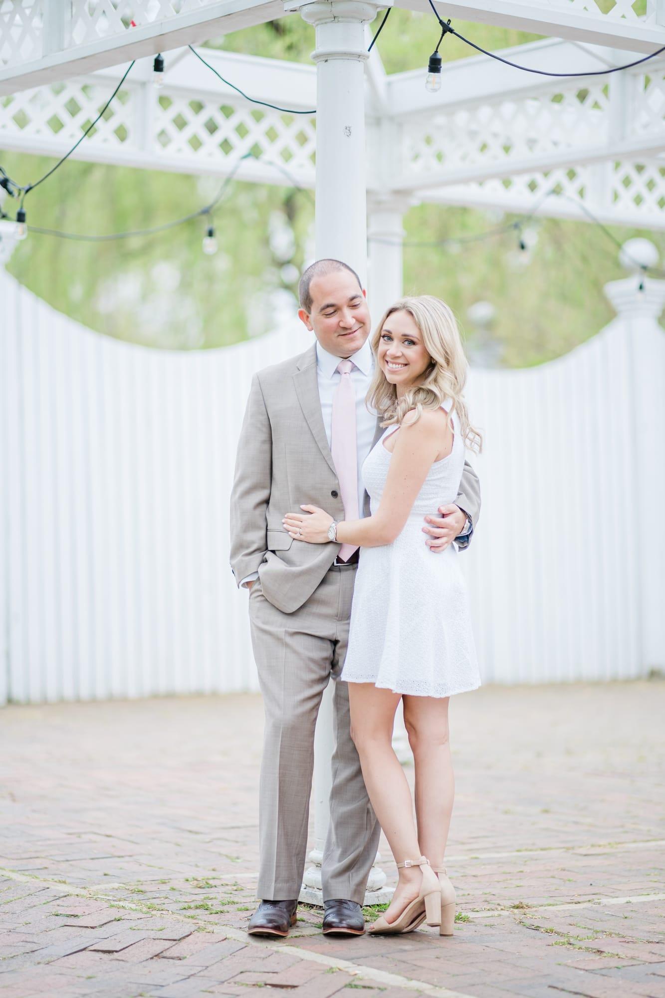 Engagement photos at Talleyrand Park spring