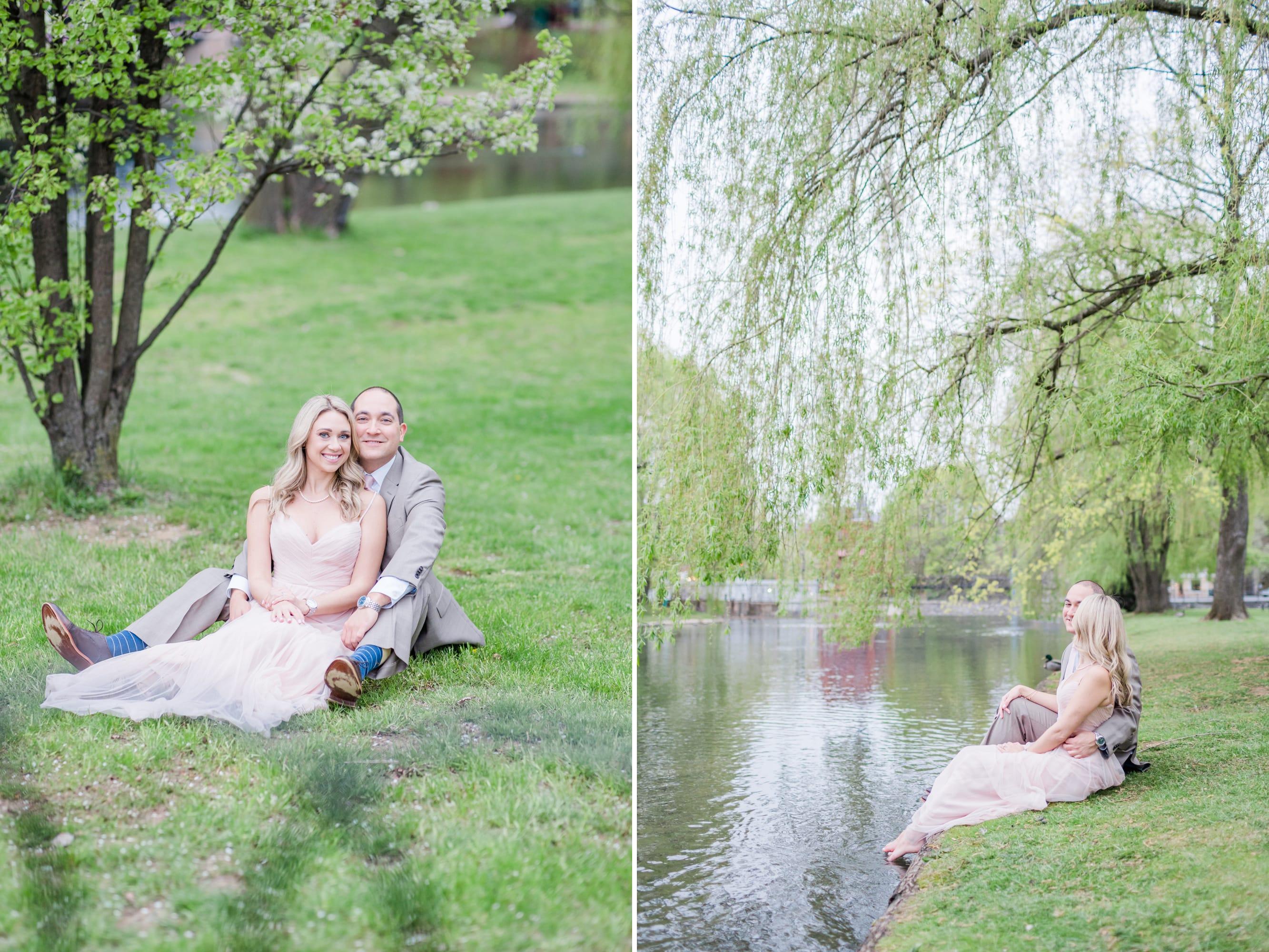 Engagement photos at Talleyrand Park