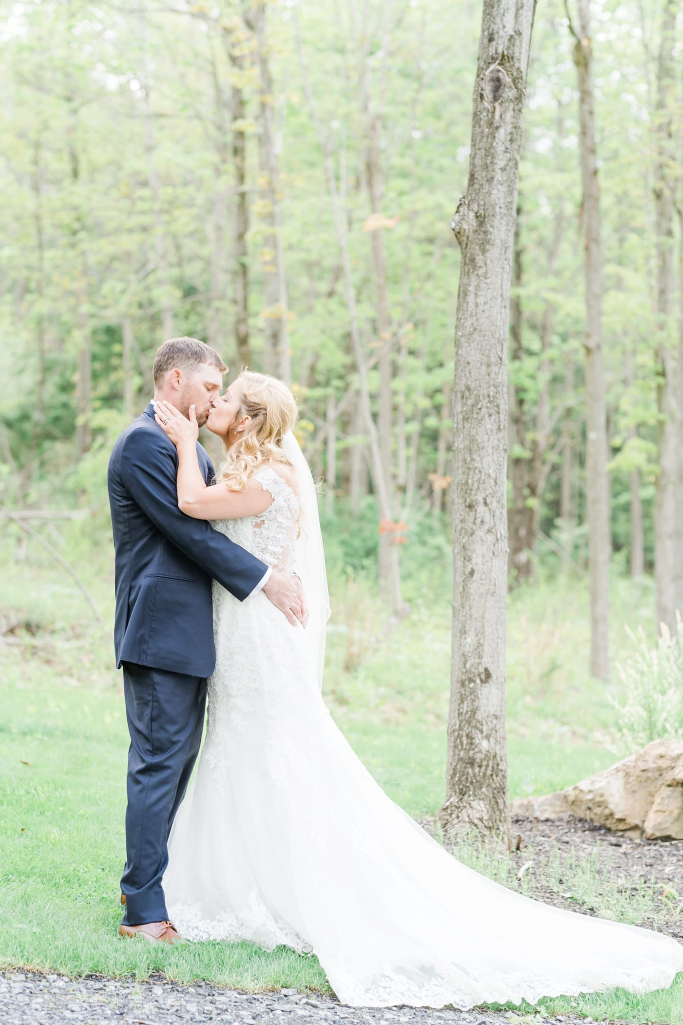 Bride and groom portraits at Rolling Rails Lodge wedding