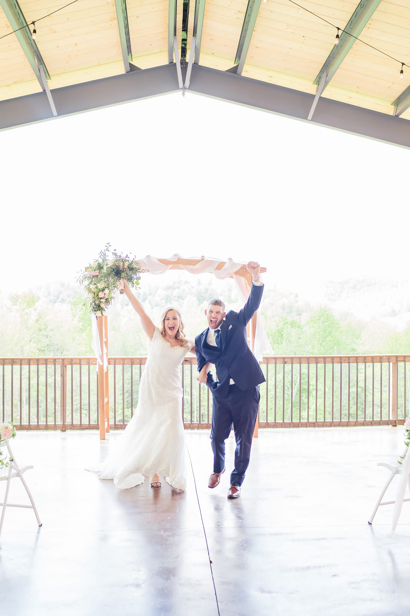 Married at Rolling Rails Lodge wedding ceremony