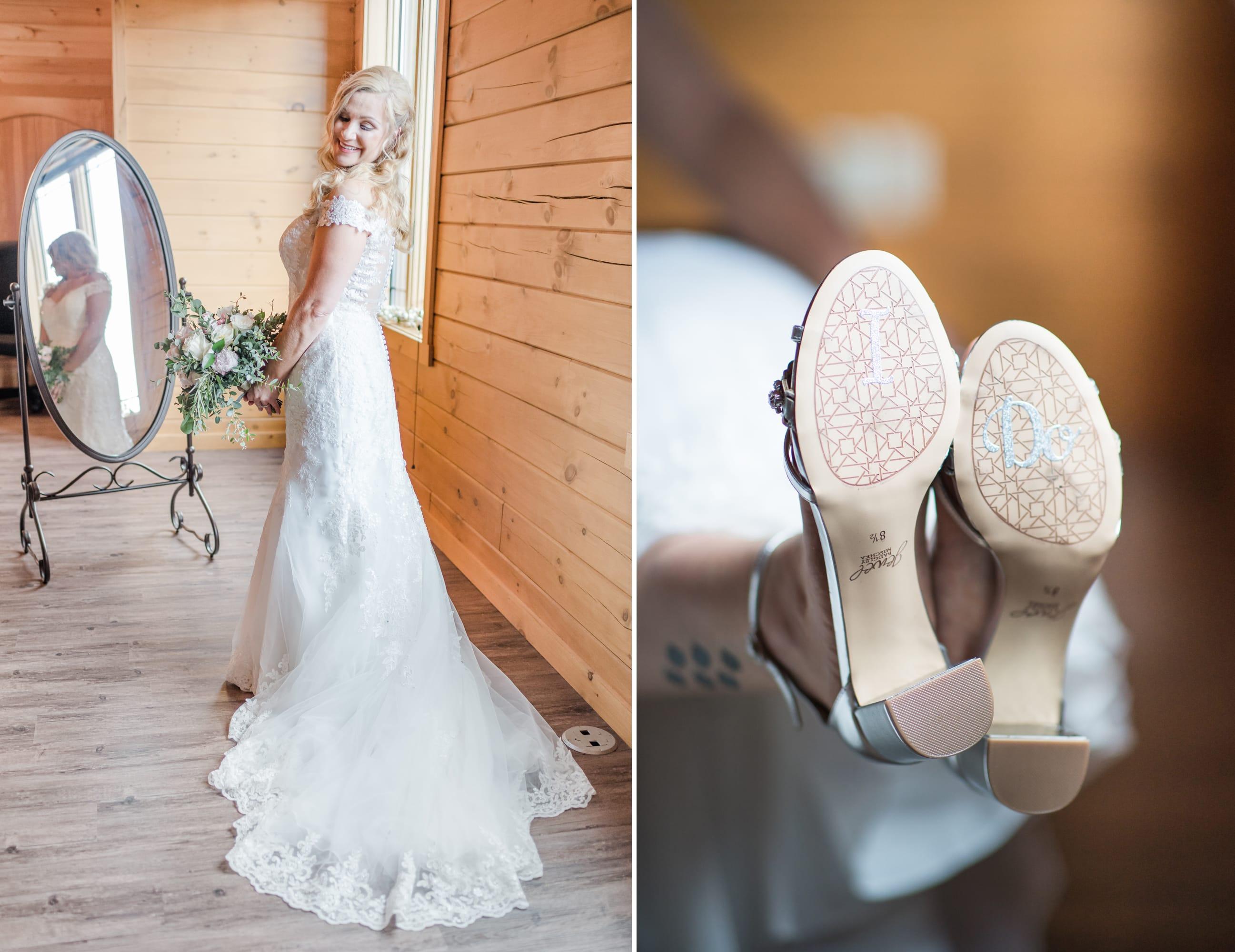 Bridal portrait at Rolling Rails Lodge wedding