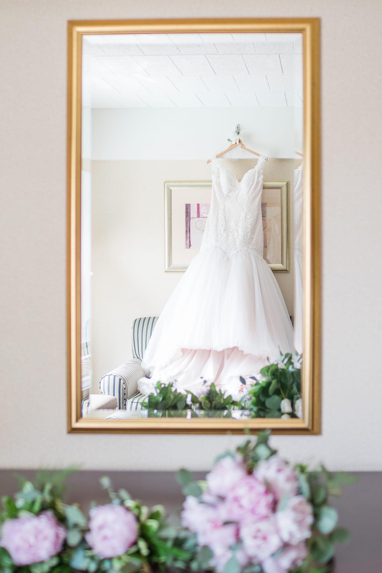 Central Pennsylvania PA summer wedding dress shot