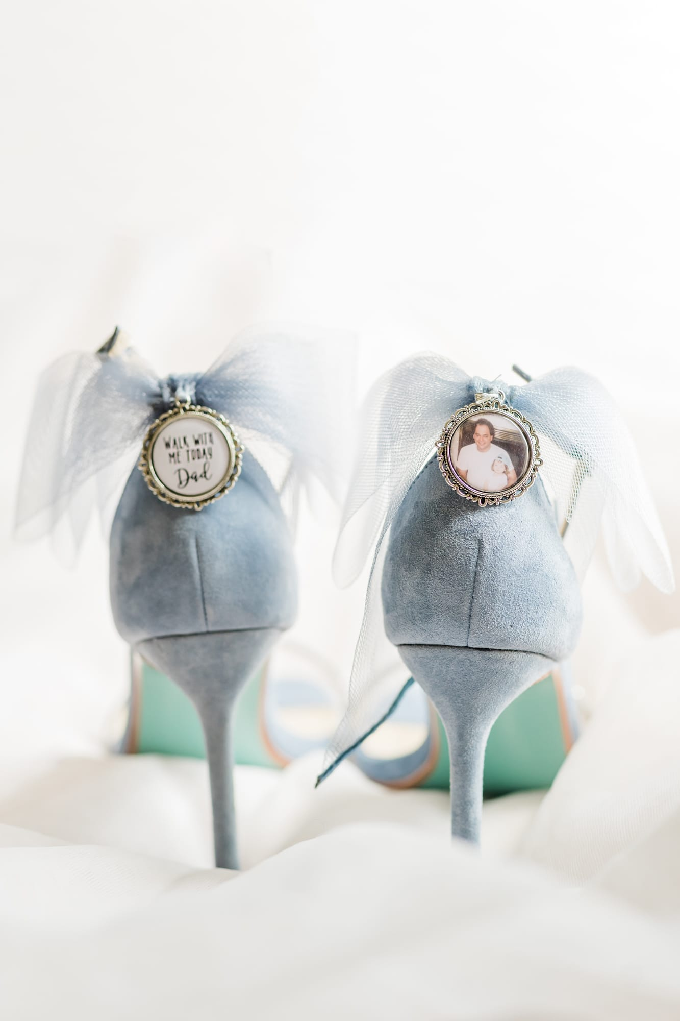 Central Pennsylvania PA summer wedding shoes with charms to honor late father