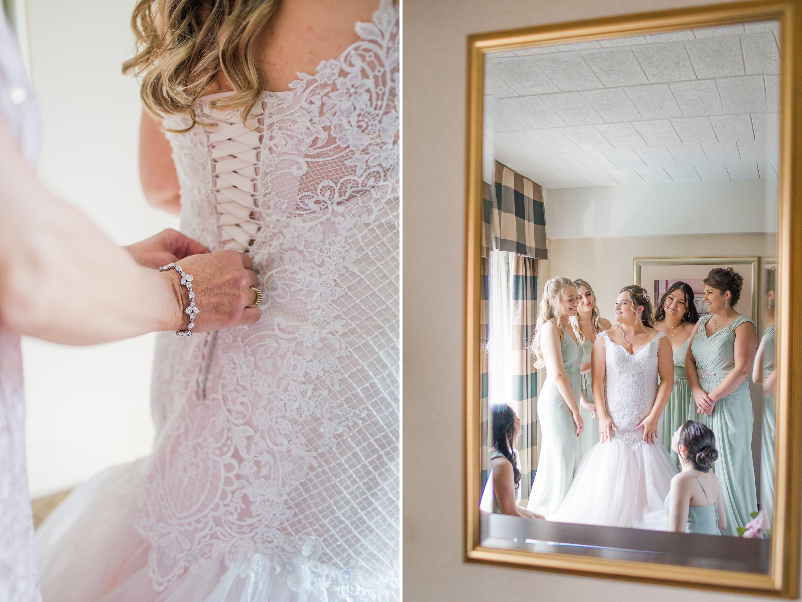 Central Pennsylvania PA summer wedding girls getting ready