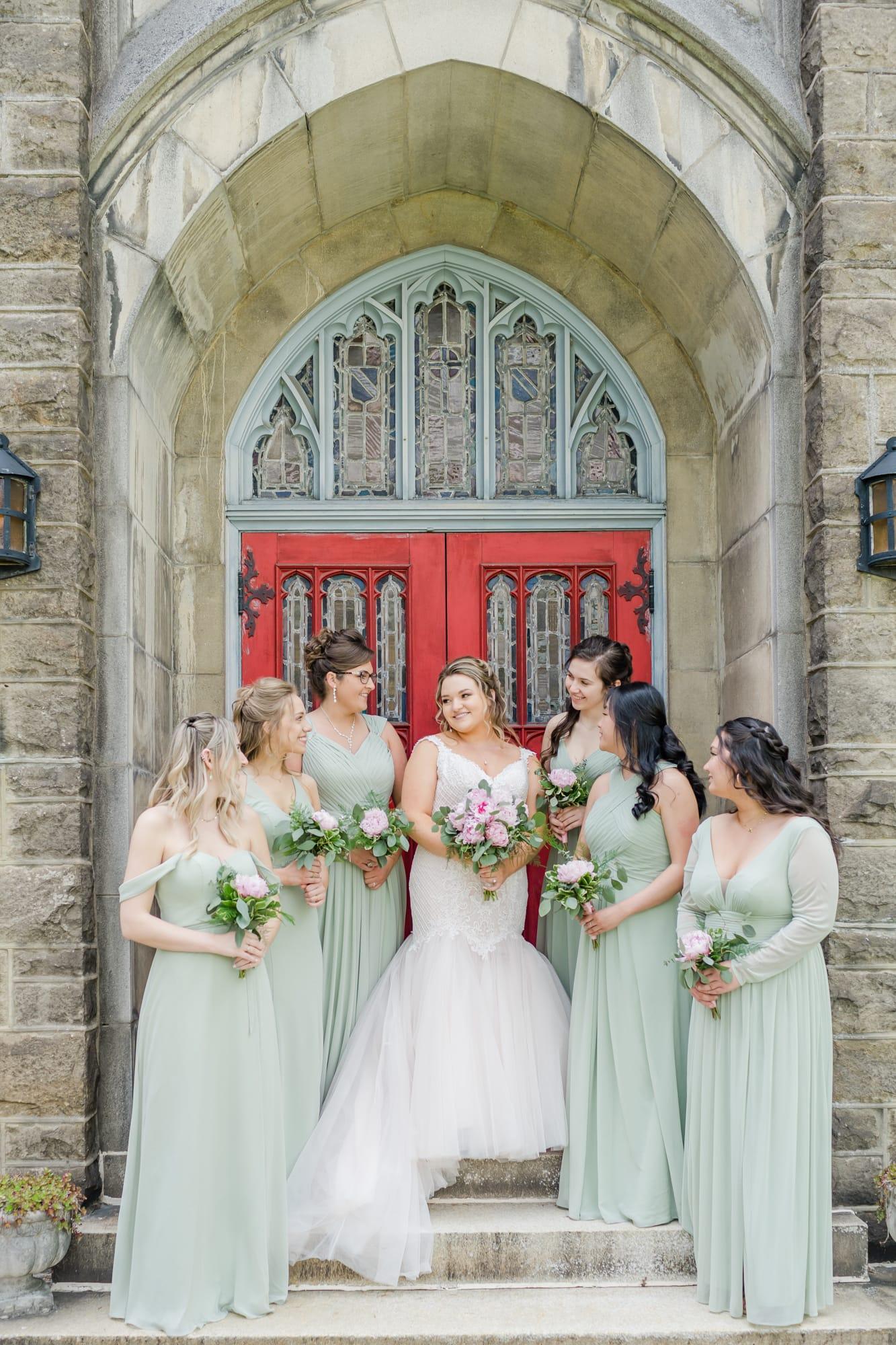 Central Pennsylvania PA summer wedding bridal party