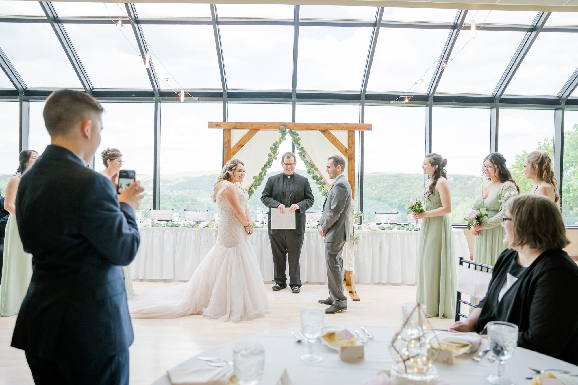 Central Pennsylvania PA summer wedding ceremony