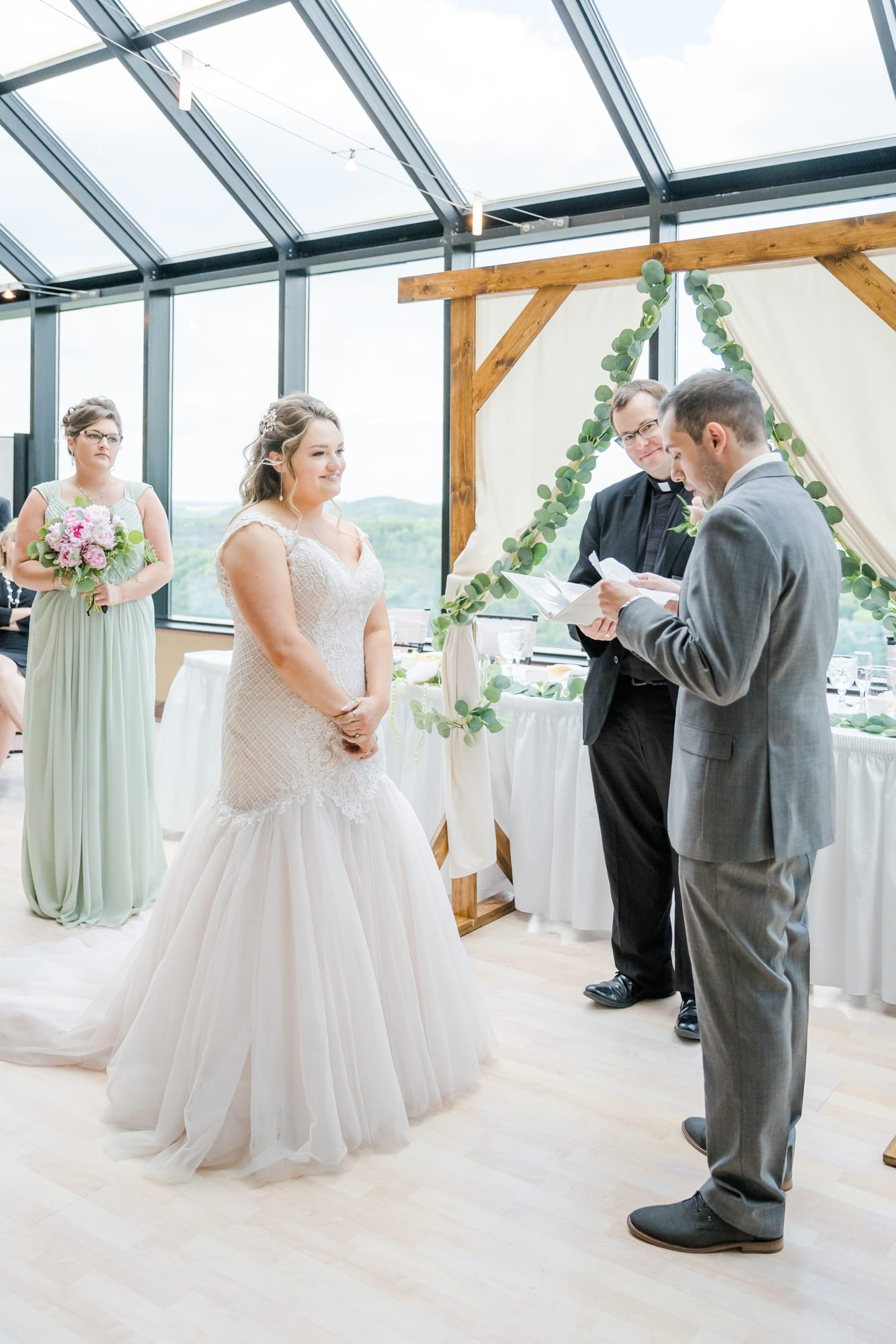 Central Pennsylvania PA summer wedding vows exchange