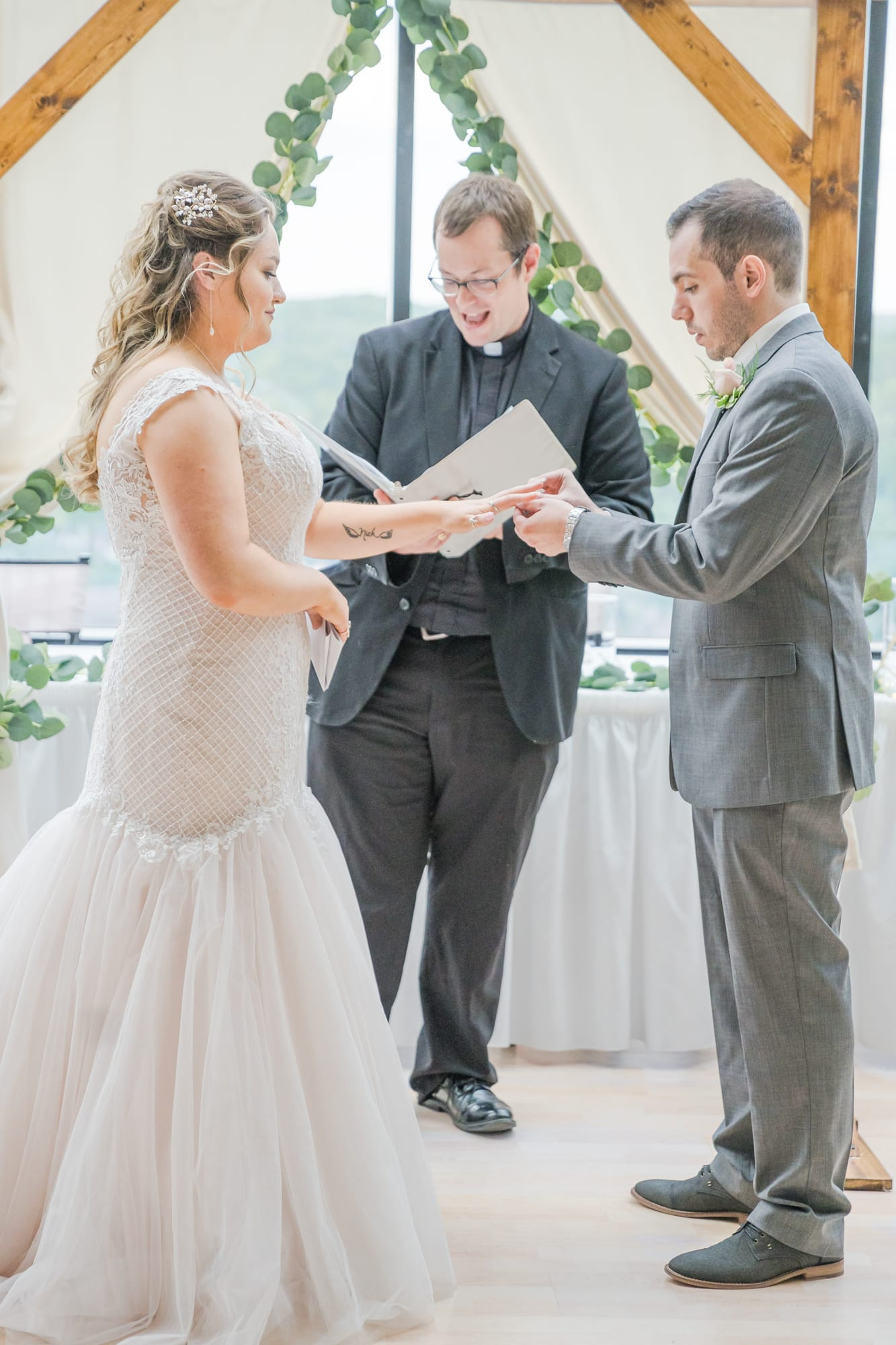 Central Pennsylvania PA summer wedding rings exchange