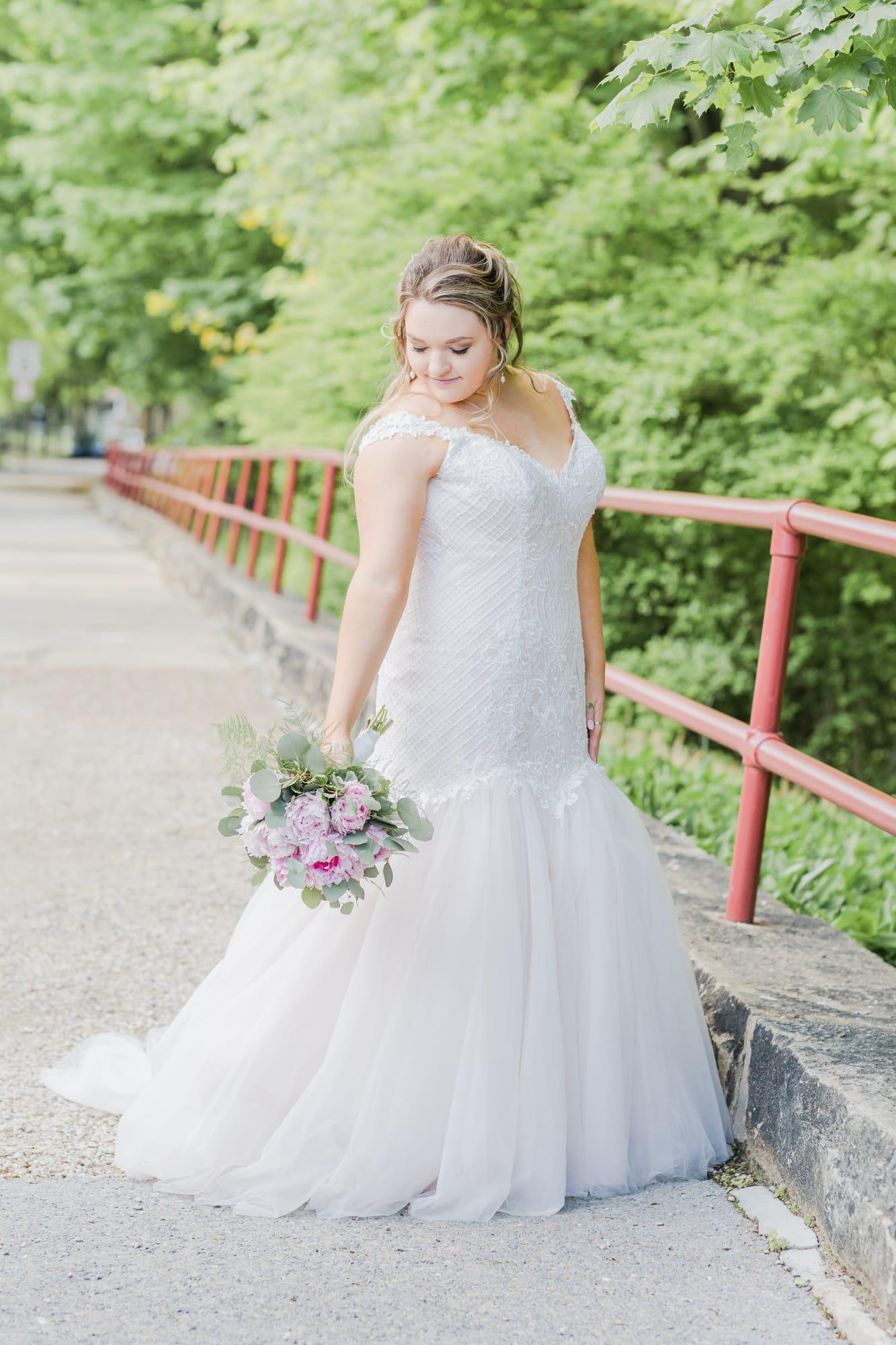 Central Pennsylvania PA summer wedding bridal portrait