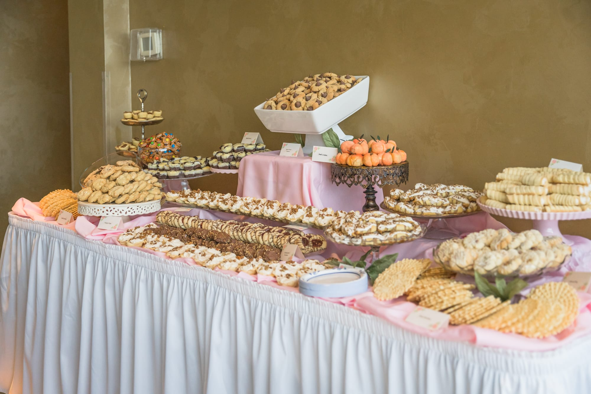Central Pennsylvania PA summer wedding reception cookie table
